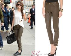 Here you'll find information on the latest outfits that Selena has worn and where to get them. Selena Gomez Closet, David Letterman Show, Girls Dream Closet, Versace Bag, Louis Vuitton Shoes, Latest Outfits, Rachel Zoe, Leather Pants, Capri Pants