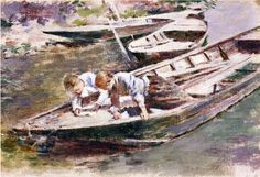 Two in a Boat Theodore Robinson