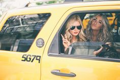 Picture perfect taxi ride. The picture you take before a big trip