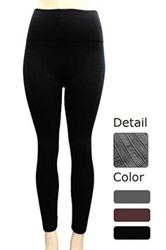 5f974d64def8b INDERO Womens Ankle Length Fleece Lined Leggings LXL Black ** Read more at  the image