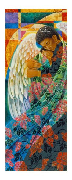 d21acc5227b Keith Mallett -The Guardian Angel of Summer African Art Paintings