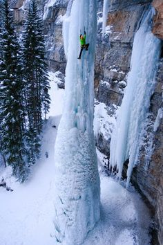 Frozen Fang waterfall, Vail, Colorado, USA