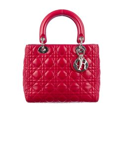 Classic: Christian Dior Red Lady Dior Bag. (TheRealReal.com)