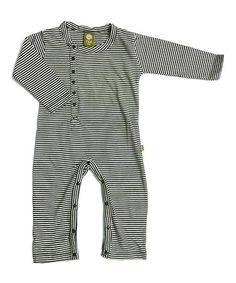 Take a look at this Charcoal Stripe Una Organic Playsuit - Infant by Nui Organics on #zulily today!