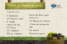 Receta Ecológica. Crema de verduras al cilantro