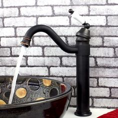$47.00 Bathroom Faucets for Vessel Sink Black