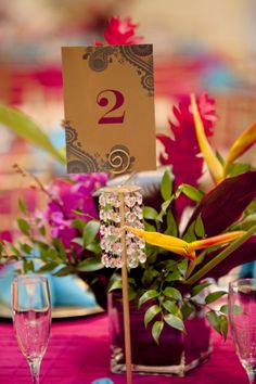 Table Numbers from an Indian Wedding
