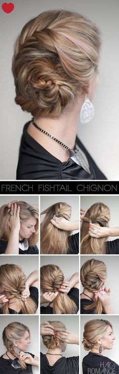 fishtail chignon updo
