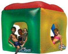 Swimline The Cube Inflatable Pool Toy by Swimline. $72.53. From the Manufacturer                Swimline The Cube Floating Habitat                                    Product Description                Totally Cool Cube Inflatable Can be Used As A Pool Too! Includes a bottom drain to quickly empty water out, when used as a pool.. Save 35%!