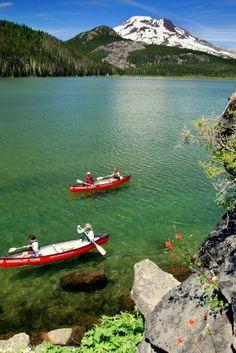 Cascade Lakes Canoe Tours, Bend Oregon, Sparks Lake, South Sister
