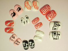 Movie Themed 'Grease' False Nails by KatiesNails on Etsy, £6.00