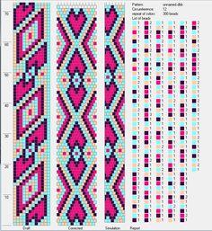 12 around tubular bead crochet rope pattern Spiral Crochet Pattern, Bead Crochet Patterns, Bead Crochet Rope, Seed Bead Patterns, Beading Patterns, Beaded Crochet, Crochet Bracelet Pattern, Loom Bracelet Patterns, Crochet Beaded Bracelets