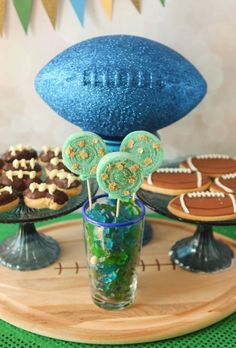 Chocolate is better than football girl's night out party treats! See more party planning ideas at CatchMyParty.com!