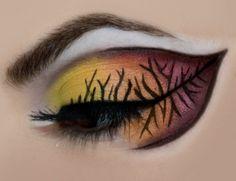Thanksgiving makeup. Leaf makeup. Warm colors. Fall makeup. Winter makeup. fall leaves. photography