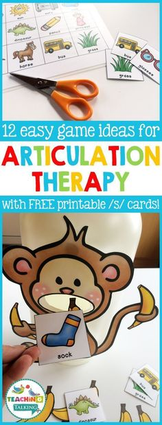 Quick & Easy Articulation Activities for Speech Therapists Low-prep/no-prep articulation activities for kids! Find 12 quick & easy game ideas you can use with your students in speech therapy today! Articulation Therapy, Speech Therapy Activities, Speech Language Therapy, Speech And Language, Toddler Speech Activities, Autism Activities, Activities For Kids, Preschool Articulation Activities, Down Syndrom