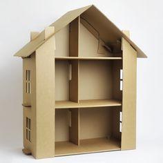 Cardboard dollhouse kit