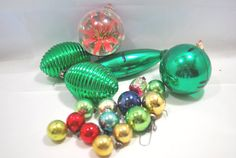Christmas Diorama Jewel  Ornaments Plastic and by Dupasseaupresent