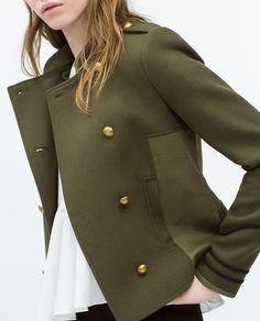 Combined army jacket from ZARA. Shop more products from ZARA on Wanelo. Zara Jackets, Outerwear Jackets, Zara New, Zara Women, Couture, Outerwear Women, Military Fashion, Summer Wardrobe, Jackets For Women