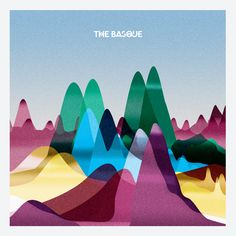 The Basque artwork / by Sam Coldy --- use as art example for tissue paper art w/ kid Mountain Illustration, Illustration Art, Cd Design, Graphic Design, Typography Poster, Typography Design, Tissue Paper Art, Cd Cover Art, Mountain Art