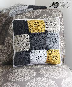 Pillow Crochet Pattern || FREE PATTERN || Rescued Paw Designs