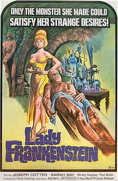 Lady Frankenstein (1971) I WILL ONLY WATCH the cut version of this with the nude scenes removed!!!!