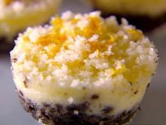 Giada's Orange Citrus Cheesecake with Oreo Crust! Its so good! Mmmmm!  The lemon/orange zest sugar topping makes a good recipe into perfection!