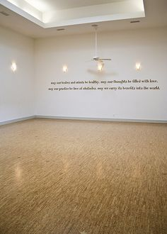 Tranquil Space Yoga Studio. Main Studio with cork flooring.