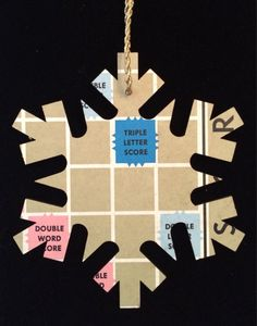 Scrabble game board snowflake ornament or gift by ScrabbleChick