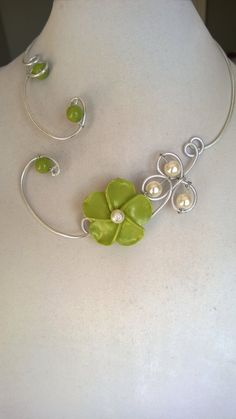 BRIDEMAID JEWELRY Green jewelry Aluminium by LesBijouxLibellule