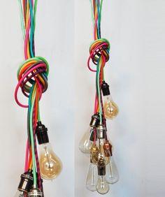 7 Bulb Cluster Pendant Light Modern Industrial Chandelier Edison Lamp Lighting  rustic mason jar country shabby chic vintage light fixture vanity wedding gift graduation gift