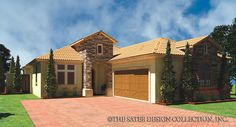 "The ""Lizzano"", a compact Tuscan courtyard home plan l Sater Design Collection"
