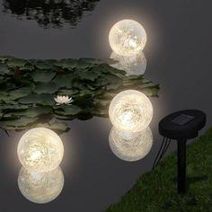Solar Pool Lights, Led Solar, Pond Lights, Ball Lights, Floating Lights In Pool, Garden Lamp Post, Garden Lamps, Pathway Lighting, Landscape Lighting