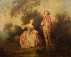 View Couple galant by Nicolas Lancret on artnet. Browse upcoming and past auction lots by Nicolas Lancret. Rococo Painting, Rococo Style, Global Art, Art Market, Past, Cool Art, Paintings, French, Portrait