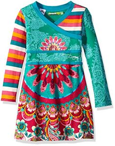 Desigual Little Girls' Dress Bangui, Dynastic Green