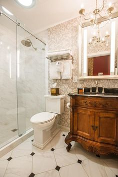 Guest Bathroom Renovation On The Garden Room Level At The Hamilton - Bathroom remodeling savannah ga