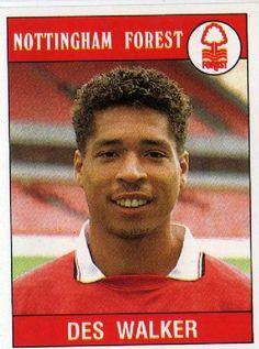 Des Walker Nottingham Forest Fc, Football Cards, Baseball Cards, Der Club, England, Scrapbooks, Vignettes, Legends, The Past