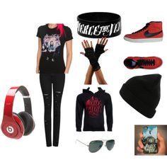 """""""Pierce The Veil Fan outfit"""" by julie-miller-i on Polyvore"""