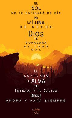 Alzaré mis ojos a los montes; ¿De dónde vendrá mi socorro? Mi socorro viene de Jehová, Que hizo los cielos y la tierra. Salmos 121:1-2