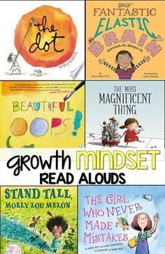 Do your students have a growth mindset or a fixed mindset? These are great read alouds that are perfect to facilitate discussions of perseverance, growth vs fixed mindset, and problem solving.