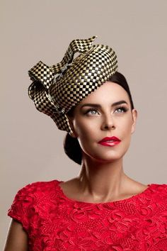 Julie Anne Lucas millinery - Faye, 2013. I think I like this hat. It takes a minute to grow on you.