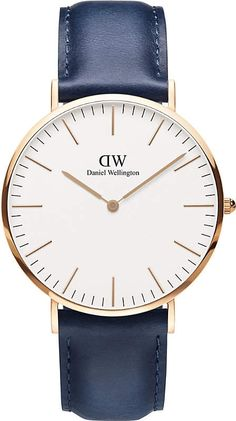 abc50b30802c0 DANIEL WELLINGTON Classic Somerset 40 rose-gold and leather strap