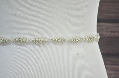 ANNA Wedding Belt Bridal Belt Wedding Sash by HayesStreetBridal