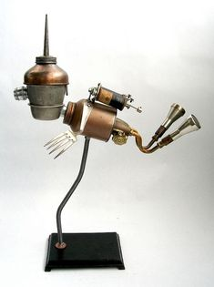 Turner - Found Object Robot Assemblage Sculpture By Brian Marshall