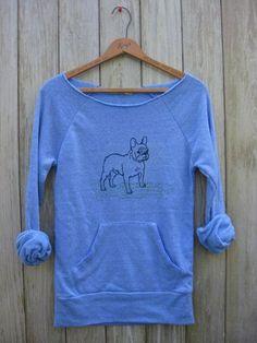 pantpantpantLETS PLAY French Bulldog Sweatshirt by nicandthenewfie, $36.00