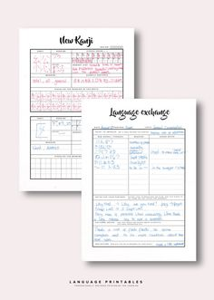 Language Study Printables Pack 1 by LanguagePrintables on Etsy