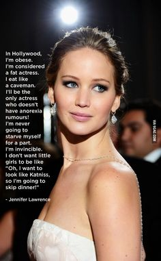 Funny pictures about Respect for Jennifer Lawrence. Oh, and cool pics about Respect for Jennifer Lawrence. Also, Respect for Jennifer Lawrence. Katniss Everdeen, Pretty People, Beautiful People, Beautiful Women, Beautiful Person, Amazing People, Beautiful Soul, Amazing Women, Hunger Games