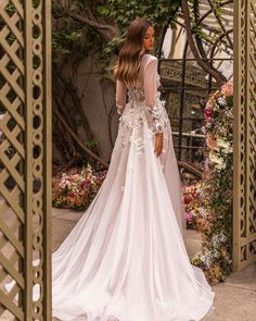 Top 30 Hottest Wedding Dresses: Guide To Every Silhouette ❤ hottest wedding dresses a line with long sleeves floral appliques aria bride #weddingforward #wedding #bride #weddingoutfit #bridaloutfit #weddinggown