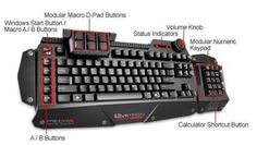 Azio Levetron Mechanical Gaming Keyboard with Cherry Black MX Switches Power Within Reach: Macro keys are useful but only if they're easily Midi Keyboard, Bluetooth Keyboard, Computer Keyboard, Keyboard Cover, Gaming Computer Setup, Computer Technology, Macro Keys, Windows 10, Keyboard Lessons