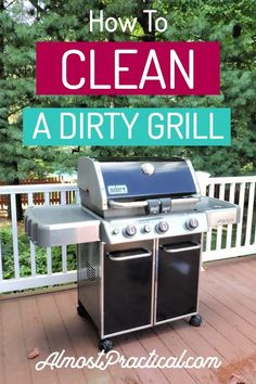 How to Clean A Grill DIY grill cleaning tips and hacks for your gas grill. I have a Weber but these ideas should apply to other brands as well. Find the supplies and products that you need to pull together before you start to clean. Mattress Cleaning, Car Cleaning, Spring Cleaning, Deep Cleaning, Cleaning Hacks, Grill Cleaning, Iron Cleaning, Organizing Tips, Cleaning Solutions