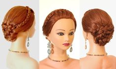 Braided summer hairstyle for long hair